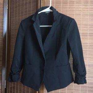 Black half sleeve blazer coat